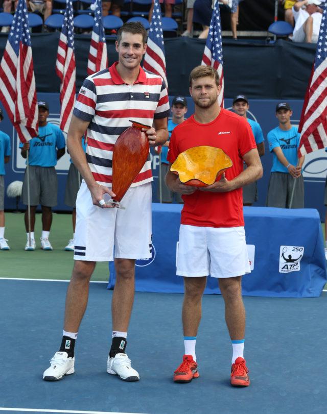 2018 BB&T Atlanta Open Champion John Isner (left) and finalist Ryan Harrison.