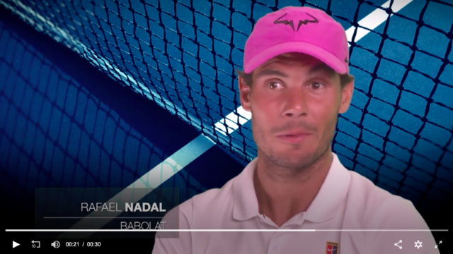 Nadal talking about Babolat racquets