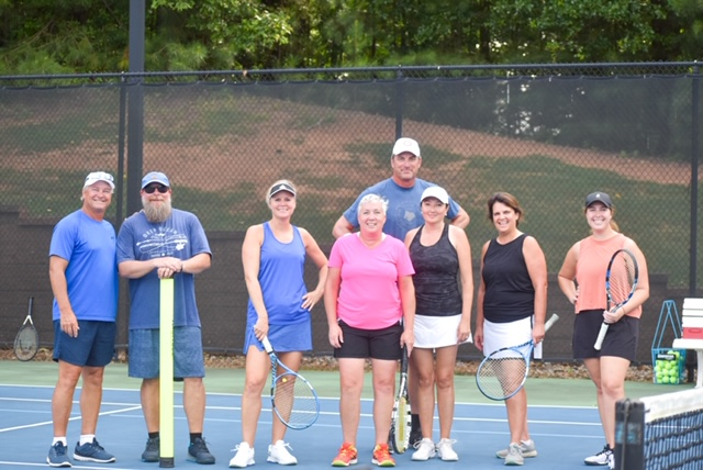 Cartersville Country Club summer mixed doubles team