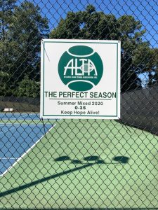 Cartersville Country Club summer mixed doubles team ALTA sign